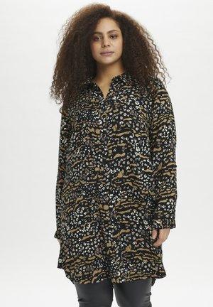 KCELLA  - Button-down blouse - black/amphora animal flower