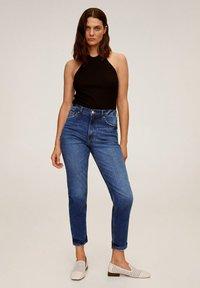 Mango - Slim fit jeans - dunkelblau - 1