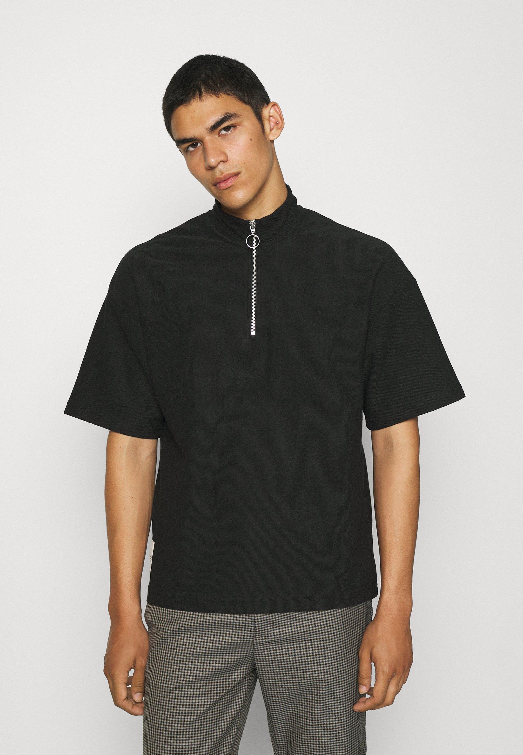 Men JORCASEY QUARTER ZIP HIGH NECK - Print T-shirt