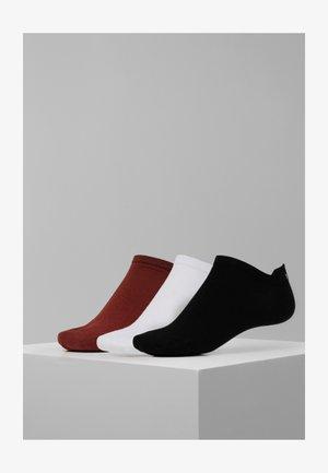 SNEAKER 3 PACK  - Ponožky - rot