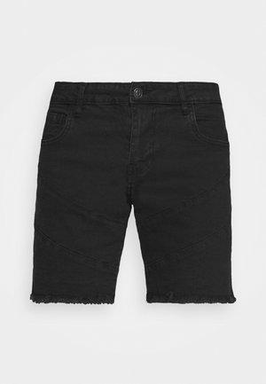 NAETHAN - Denim shorts - black
