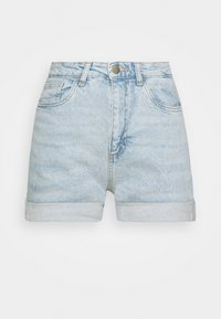 Cotton On - HIGH RISE CLASSIC STRETCH - Shorts di jeans - light blue denim - 4
