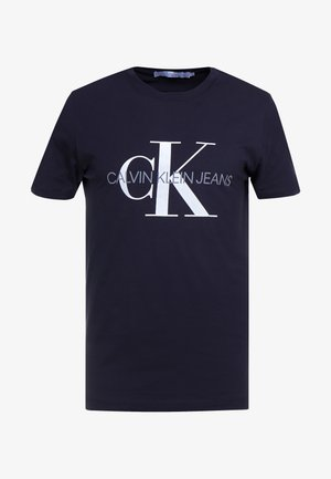 ICONIC MONOGRAM SLIM TEE - Triko s potiskem - night sky