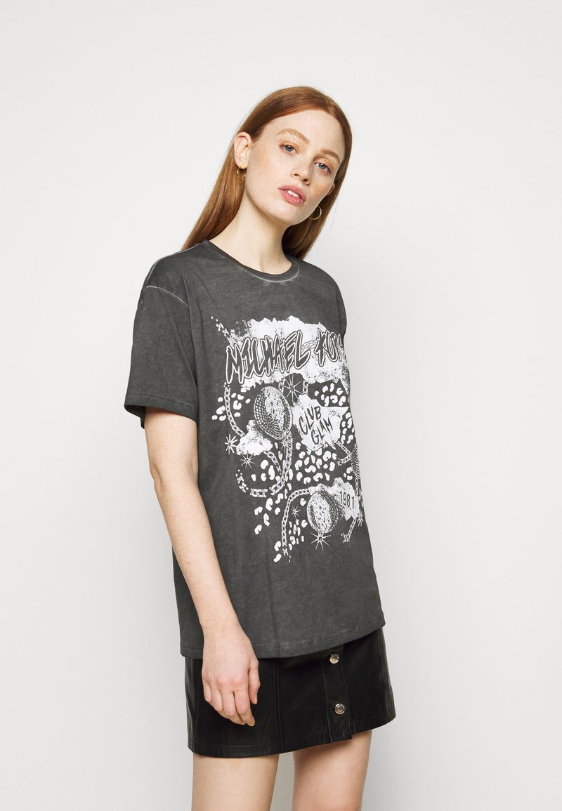 MICHAEL Michael Kors - ROCK STAR TEE - Print T-shirt - washed black