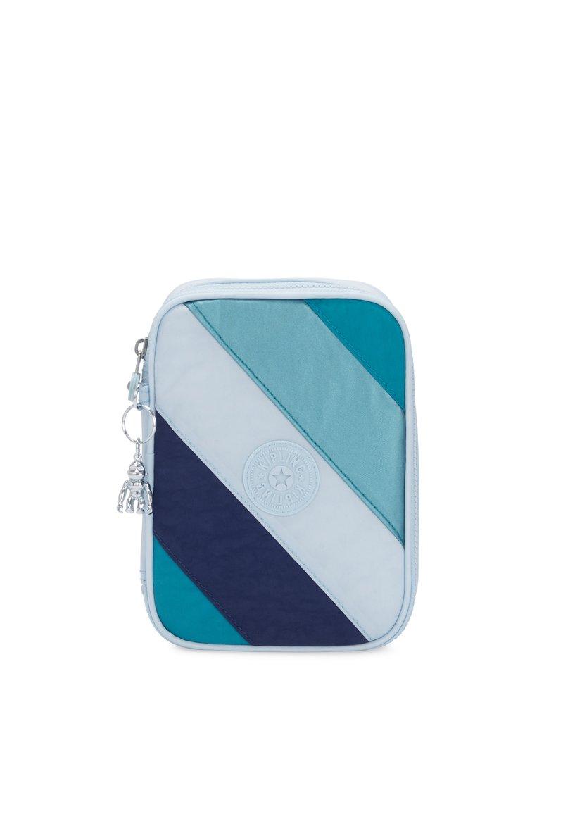 Kipling - 100 PENS - Pencil case - blue mix block