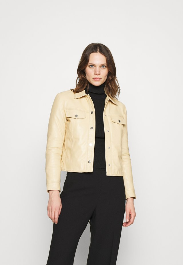 FRANKIE - Leather jacket - beige