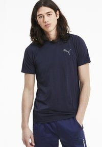 Puma - EVOSTRIPE MEN'S HOMMES - Print T-shirt - peacoat - 0