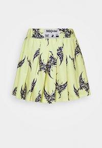 NEW girl ORDER - REPEAT TRIBAL BUTTERFLY  - Mini skirt - yellow - 0