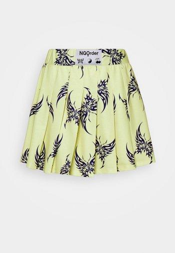 REPEAT TRIBAL BUTTERFLY  - Mini skirt - yellow