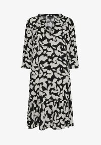 Live Unlimited London - MONO LEAF - Day dress - black - 1