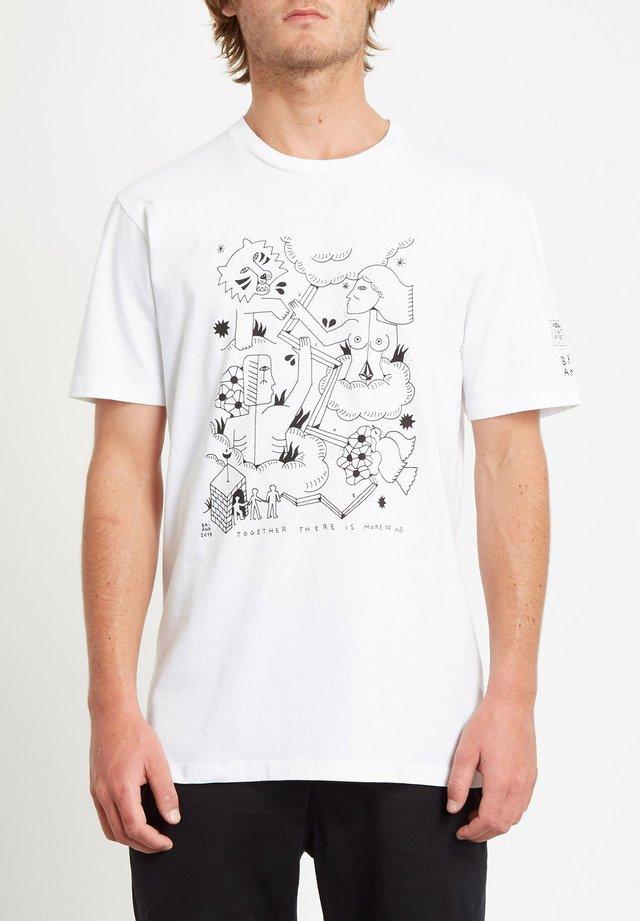 BRIAND  - T-shirt con stampa - white