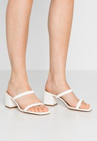 NA-KD - SQUARED TWO STRAP - Heeled mules - white - 0