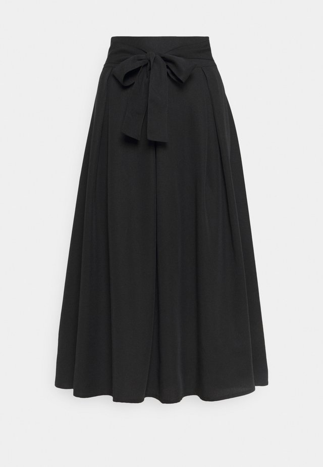 SKIRT - Jupe trapèze - pitch black