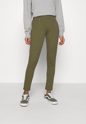 ZIP PUNTO LEGGINGS - Leggings - Trousers - dark green