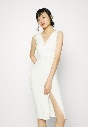 BELLA - Jersey dress - white