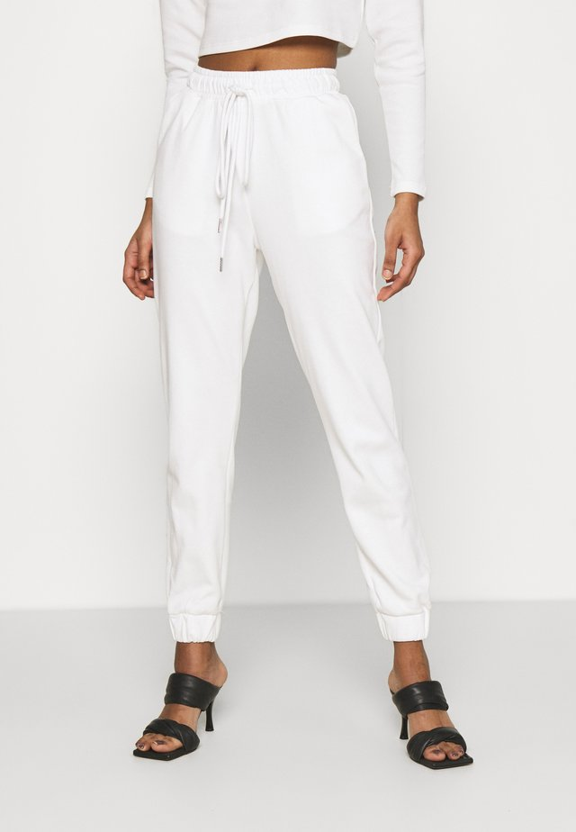 TED TROUSERS WITH FRONT TIE DETAIL - Spodnie treningowe - cream