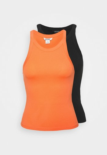 EDDA SINGLET 2 PACK - Top - orange/black dark solid