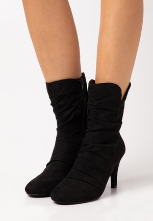 ROMY - High heeled ankle boots - black