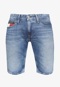 SCANTON HERITAGE - Denim shorts - light blue denim