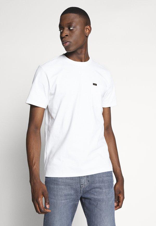 Lee POCKET TEE - T-shirt basic - ecru/mleczny Odzież Męska NQXM
