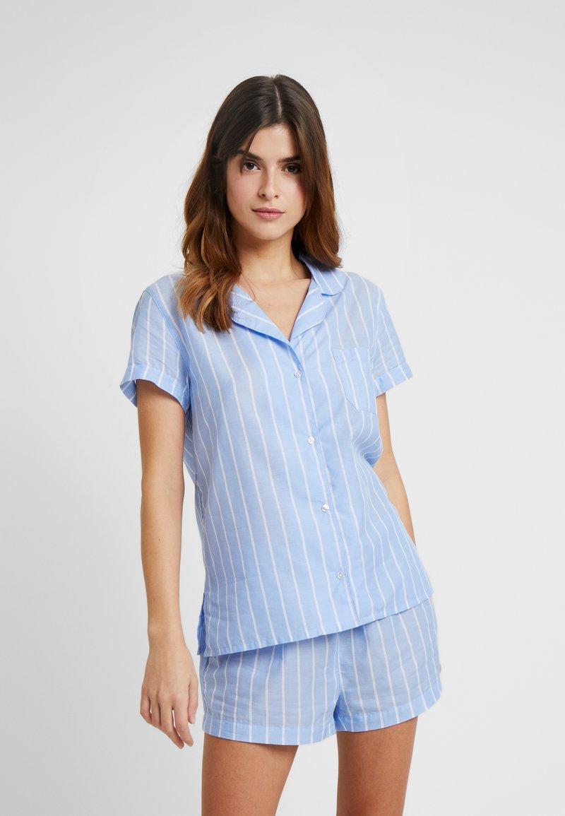 Anna Field - STRIPE SHORT SET - Pyžamová sada - blue
