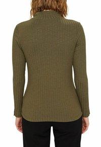 Esprit - HIGHNECK - Long sleeved top - dark khaki - 5