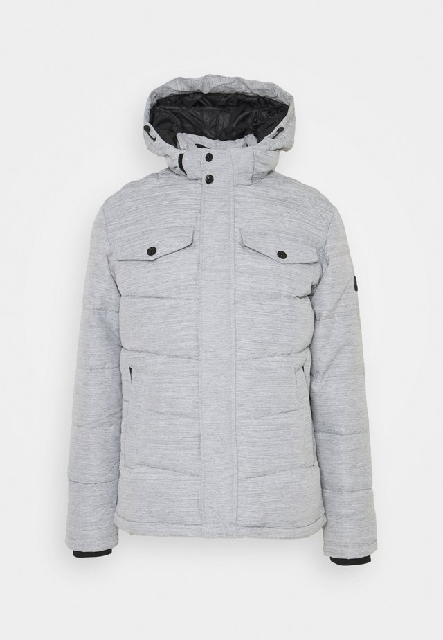 JJREGAN PUFFER - Winter jacket - light grey melange