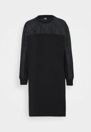 LOGO SLEEVE - Day dress - black