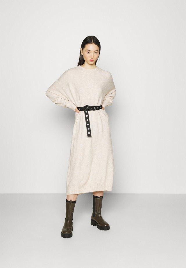 FELIA DRESS - Gebreide jurk - ecru melange