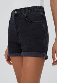 PULL&BEAR - Shorts di jeans - black - 4