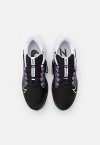Nike Performance - AIR ZOOM PEGASUS 38 FLYEASE - Neutrala löparskor - black/metallic silver/white/chlorine blue/anthracite/flash crimson - 3