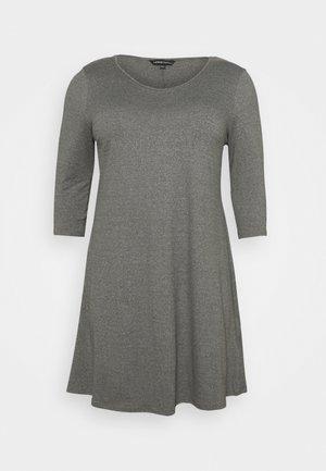 SWING DRESS - Jersey dress - grey marl