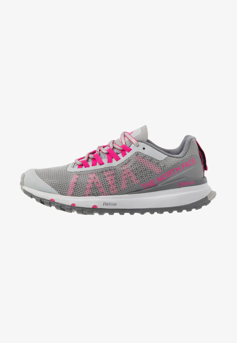 The North Face - ULTRA SWIFT - Neutral running shoes - griffin grey/pink