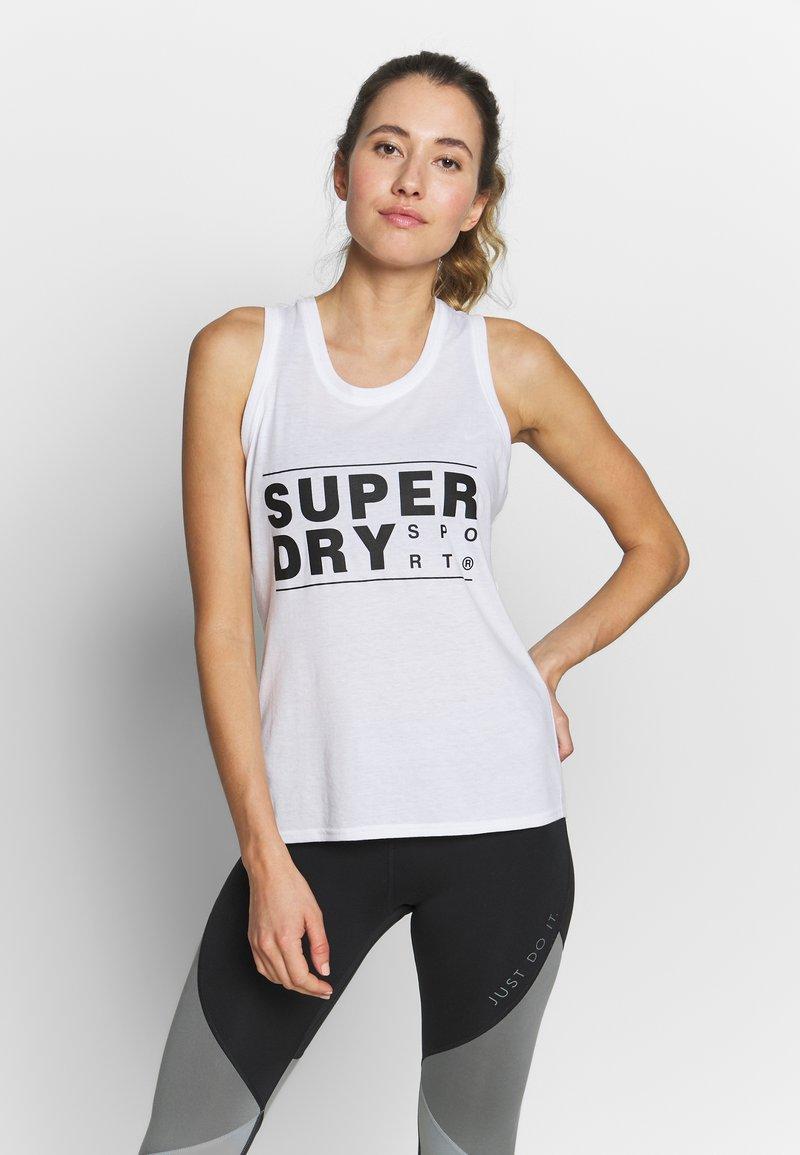 Superdry - CORE SPORT GRAPHIC VEST - Top - optic
