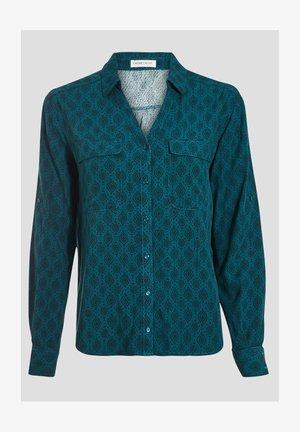 LANGARM - Button-down blouse - vert canard
