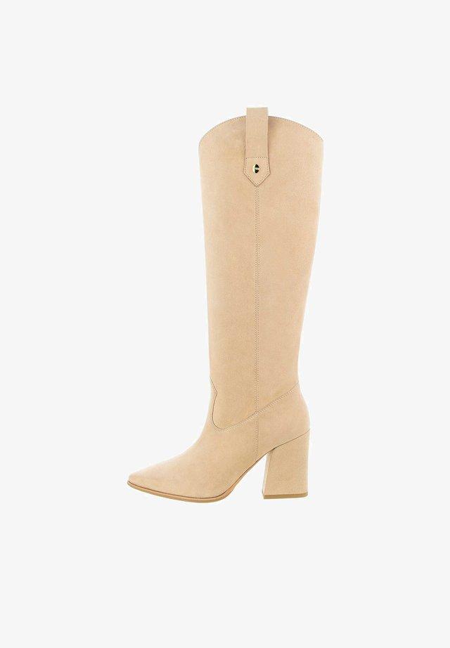 SENIGALIA  - Laarzen met hoge hak - beige