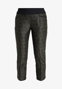 adidas Golf - PRINTED PULLON ANKLE PANT - Bukser - black - 3