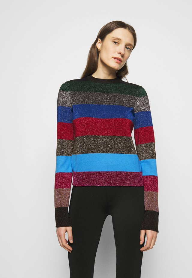 LUREX STRIPE CREWNECK JUMPER - Trui - multi