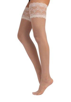 Over-the-knee socks - ivory