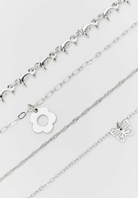 PULL&BEAR - 4 PACK - Necklace - silvercoloured - 4