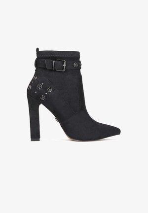 AMALIA - Kotníková obuv na vysokém podpatku - black