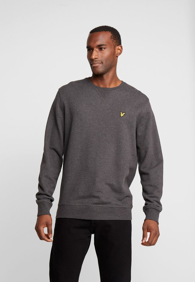 CREW NECK - Collegepaita - charcoal marl