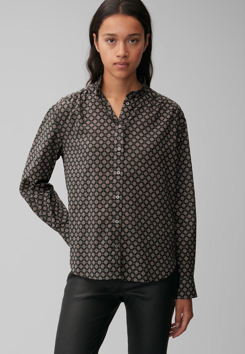Marc O'Polo - VOILE - Button-down blouse - black, black