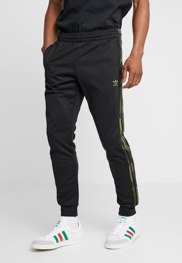CAMO - Pantaloni sportivi - black/multicolor
