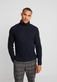 Marc O'Polo - TURTLE NECK - Jumper - total eclipse - 0