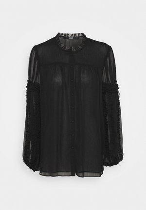 DIVINE DARLING BLOUSE - Button-down blouse - black