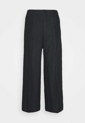 WIDE LEG PANT - Kalhoty - black