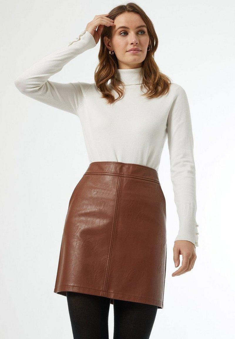 Dorothy Perkins - A-line skirt - brown