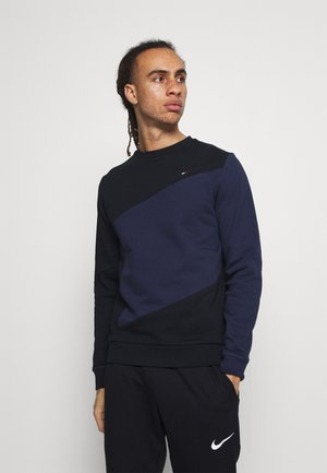 BLOCKED CREW - Sweatshirt - blue