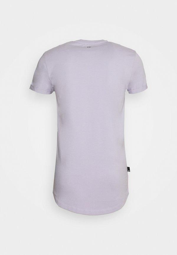 11 DEGREES MUSCLE FIT - T-shirt z nadrukiem - evening haze lilac/liliowy Odzież Męska RBXY